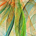 Colorful Silk Scarf by Odon Czintos