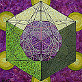 Dodecahedron In A Metatron's Cube by Maya B