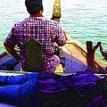 Lady Sleeping While Boatman Steers by Ashish Agarwal