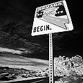 Nevada Scenic Byways Begin Signpost On The White Domes Road Valley Of Fire State Park Nevada Usa by Joe Fox