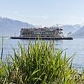 Passenger Ship On An Alpine Lake by Mats Silvan