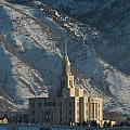Payson Utah Temple In January 2014 by David Hancock