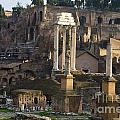 Ruins In The Roman Forum Rome Italy by Jason O Watson