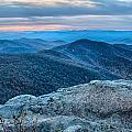 Sunset View Over Blue Ridge Mountains by Alex Grichenko