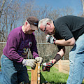 Volunteers Building Raised Beds by Jim West
