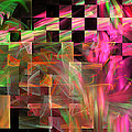Abstract Checkered Pattern Fractal Flame by Keith Webber Jr