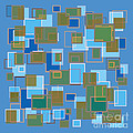 Blue Abstract by Frank Tschakert