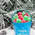 Decorative Pail Of Christmas Candy by Joe Belanger