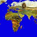 Modern World Map  by Augusta Stylianou