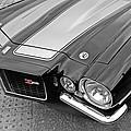 71 Camaro Z28 In Black And White by Gill Billington