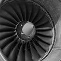 757 Engine Black And White by Ricky Barnard
