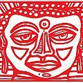 Barbot Buddha Red White by Eddie Alfaro