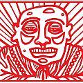 Pisco Buddha Red White by Eddie Alfaro