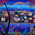 75th Anniversary Of Palm Beach, Florida Oil On Canvas by Herbert Hofer