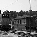 760 Passing The Yard House Bw by Thomas Woolworth