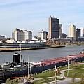 7665 Toledo Ohio Cityscape Charles Boyer On Maumee River by Chris Maher