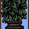 Kisiel Plant Leaves Green Black by Eddie Alfaro