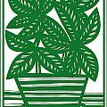 Lagoa Plant Leaves Green White by Eddie Alfaro