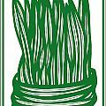 Hassenplug Plant Leaves Green White by Eddie Alfaro