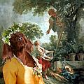 Irish Setter Art Canvas Print by Sandra Sij