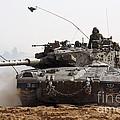 An Israel Defense Force Merkava Mark II by Ofer Zidon
