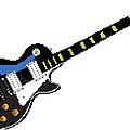8 Bit Gibson Les Paul by Lesley DeHaan