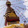 Bodhnath Stupa In Nepal by Raimond Klavins