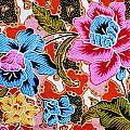 Colorful Batik Cloth Fabric Background  by Prakasit Khuansuwan