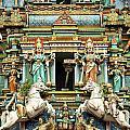 Hindu Temple With Indian Gods Kuala Lumpur Malaysia by Jacek Malipan