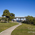 Melbourne Causeway To Indialantic In Central Florida From Geiger by Allan  Hughes