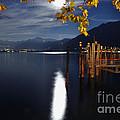 Moon Light Over An Alpine Lake by Mats Silvan