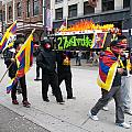 Tibetan Protest March by Carol Ailles