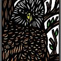 Mitzner Eagle Hawk Green Black Brown by Eddie Alfaro