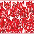 Sandvig Flowers Red White by Eddie Alfaro