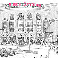 8th And Clark Busch Stadium Sketch by C H Apperson