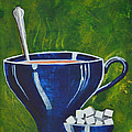 8x10 Tea Cup With Sugar Cubes by Heena Chow