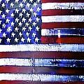 9-11 Flag by Richard Sean Manning