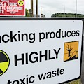 A Protest Banner Against Fracking by Ashley Cooper