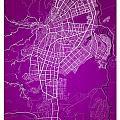 Cali Street Map - Cali Colombia Road Map Art On Colored Back by Jurq Studio