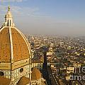 Brunelleschi's Dome At The Florence Cathedral  by Jason O Watson