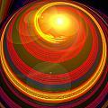 Red Energy-spiral by Ramon Labusch