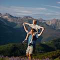 Family Hiking by Jack Affleck