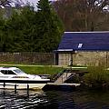 Small White Yacht In The Water Of The Caledonian Canal by Ashish Agarwal