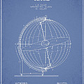 Terrestro Sidereal Globe Patent Drawing From 1886 by Aged Pixel