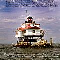 Thomas Point Shoal Lighthouse by Skip Willits