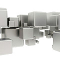 White Cubes by Jesper Klausen / Science Photo Library