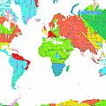 World Map by Marlene Watson