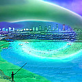 920 - Blue City On The Sea by Irmgard Schoendorf Welch