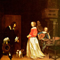 The Suitors Visit by Gerard Terborch