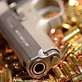 9mm Sw With Brass by Jt PhotoDesign